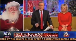 Santa is here to deliver coal to the entire news station. (Fox News)