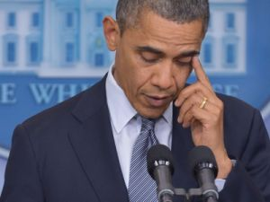 President Obama reacting to today's news. (Photo: Getty)