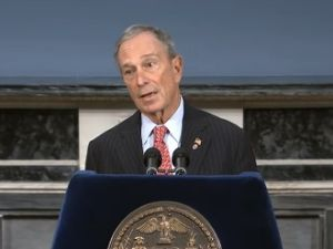 Mayor Bloomberg speaking about the president's gun control proposals at City Hall. (Photo: NYC.gov)