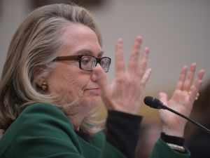 Hillary Clinton testifies before the House Foreign Affairs Committee on the September 11, 2012 attack on the US mission in Benghazi, Libya. (Photo: Mandel Ngan/AFGGetty Images)