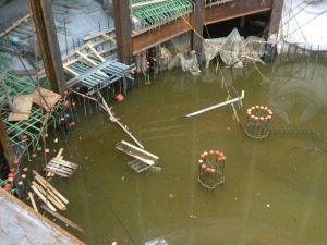 Flooding at the WTC site.