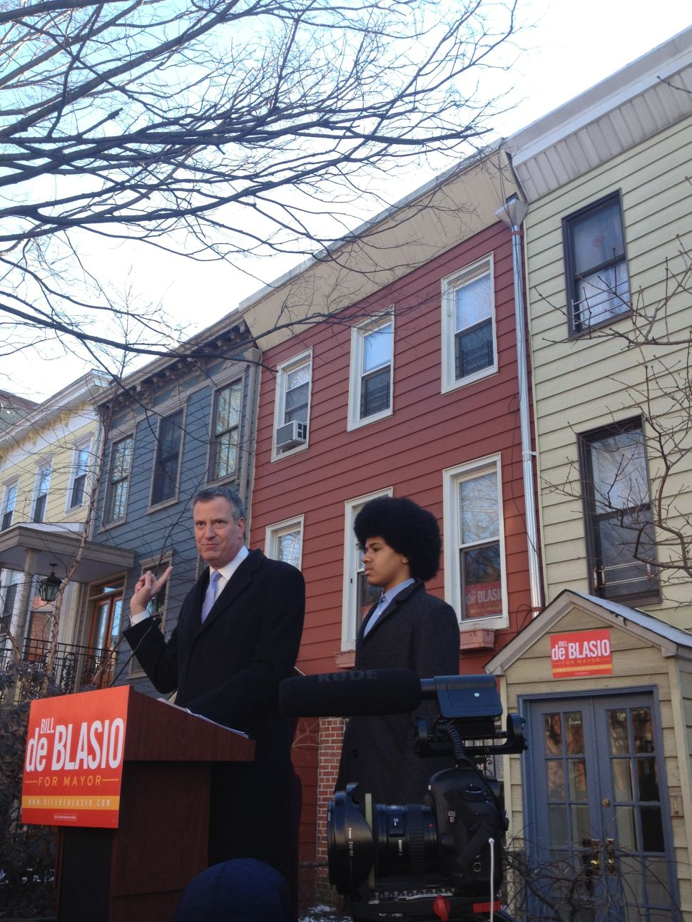 Bill de Blasio Tells 'A Tale of Two Cities'  at His Mayoral Campaign Kickoff