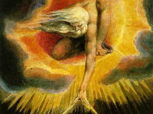 "William Blake, ""The Ancient Days."""