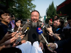 Ai Weiwei in Bejing last year, after a court rejected his appeal on a tax fine. (Ed Jones/AFP/Getty Images)