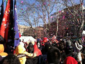 The Chinese New Year was off with a bang on Sunday, Feb. 10, in Sara D. Roosevelt Park.