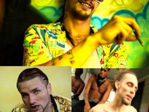 Clockwise from top: Franco, Dangeruss and Riff Raff