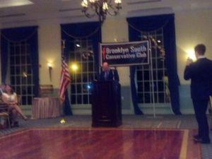 Joe Lhota addressing the club.