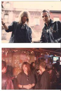 Steve Trimboli with Joe Strummer at his former digs, The Scrap Bar.