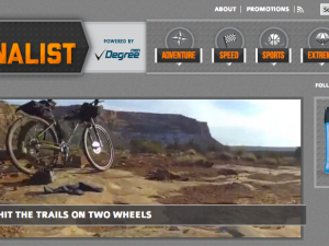 Screenshot of The Adrenalist, Powered by Degree