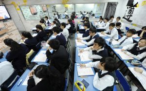 A Chinese classroom. (Photo: MIKE CLARKE /AFP/Getty)