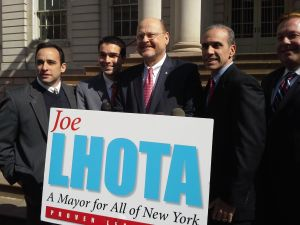 Joe Lhota being endorsed by Council Republicans,