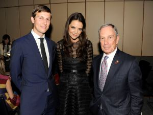 Jared Kushner, Katie Holmes and Mike Bloomberg (PMc)