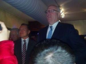 Congressman Crowley addresses the crowd.