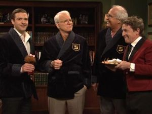 Timberlake on Saturday Night Live with Steve Martin, Chevy Chase and Martin Short (NBC