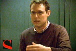Steve Kornacki discusses House of Cards. (Photo via Salon).
