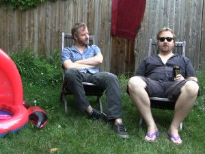 Matt Berninger (left) and Tom Berninger in Mistaken For Strangers (TFF)