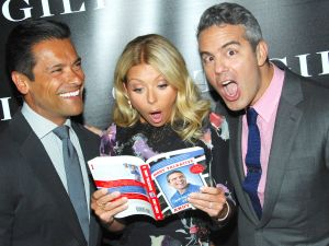 Mark Consuelos, Kelly Ripa, Andy Cohen.