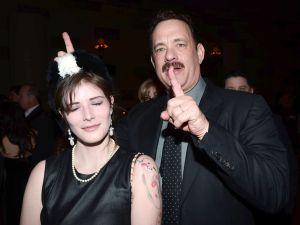 Tom Hanks photobombs 'drunk' Observer reporter. (Patrick McMullan)