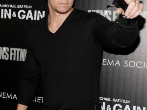Mark Wahlberg at The Cinema Society's Pain and Gain premiere.