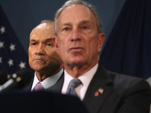 Mayor Bloomberg and Police Commissioner Ray Kelly. (Photo John Moore/Getty Images)