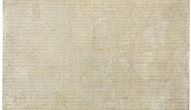 The original Declaration. (National Archives and Records Administration)