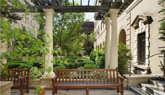 The terrace might not be quite as big as what he had in the Village, but the courtyard is a nice consolation prize.