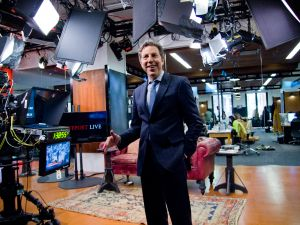 President of HuffPost Live Roy Sekoff on the set. (Photo credit: Shao-yu Liu)