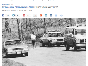 A screenshot of the article on The Daily News site.