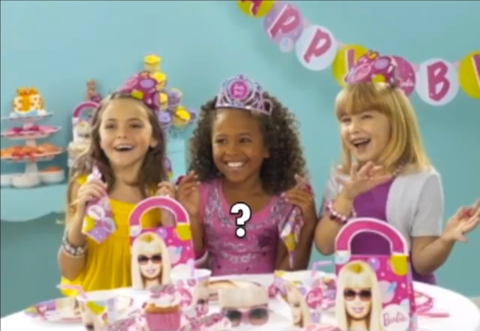 Mattel 'Rejects' Mother's Plea To Make Black Barbie Party Supplies for Little Girls