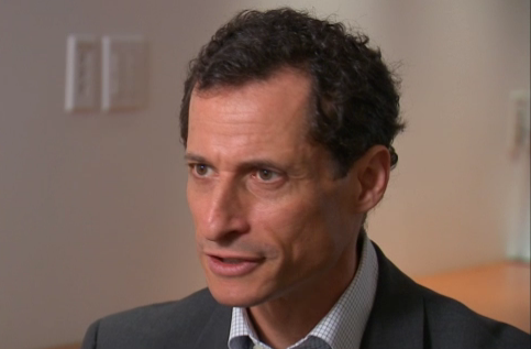Anthony Weiner during the interview. (photo: abclocal.go.com)
