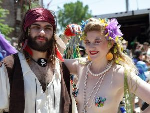Mermaid Paraders. (Flickr)