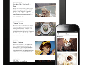 Bloglovin' app hits iPads and Androids this week.
