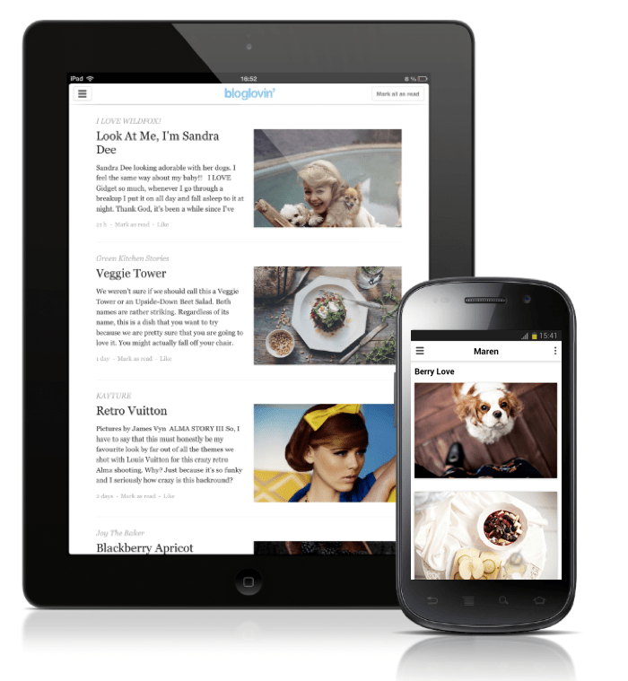 Startup News: Bloglovin' Spreads the Love to iPads and Androids, and Bondsy Makes Bacon a Viable Currency