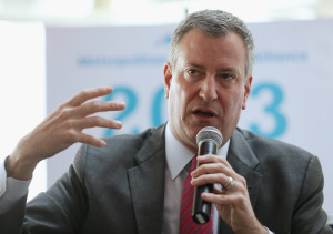 Bill de Blasio. (Photo by Mario Tama/Getty Images)