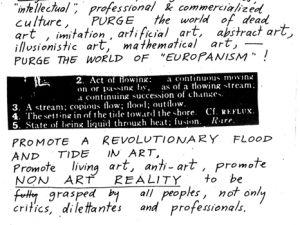 A 1963 Fluxus manifesto. (© Estate of George Maciunas/Wikicommons)