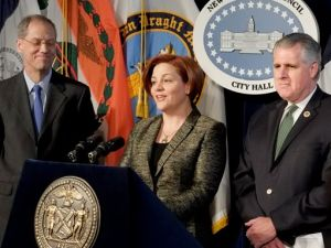 City Council Speaker Christine Quinn and Councilman James Gennaro. (Photo: Facebook)