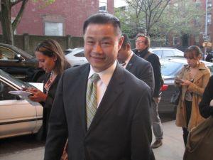 John Liu before speaking to reporters. (Photo: Jill Colvin)