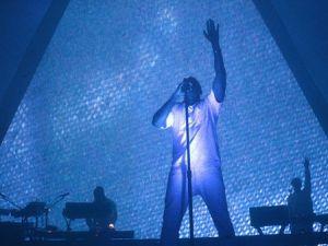 The Kanye Pyramid. (Wireimage c/o Adult Swim.)