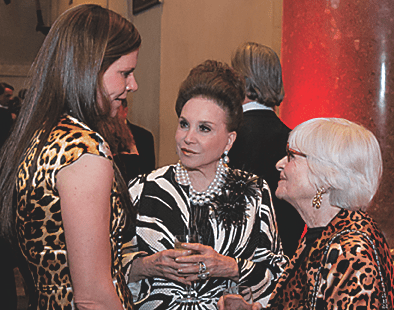 Cindy Adams makes the rounds. (Photo: Beowulf Sheehan/PEN American Center)