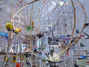 'Triple Point (Planetarium),' 2013. (Photo by Tom Powel Imaging/© Sarah Sze, courtesy the artist, Tanya Bonakdar Gallery, New York, and Victoria Miro Gallery, London)