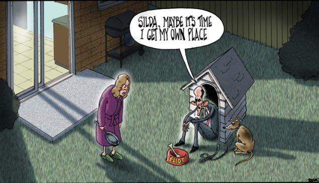 Mr. Delonas' latest cartoon. (Via The New York Post).