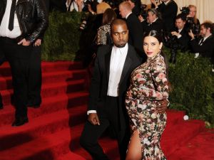 West and Kim Kardashian at the 2013 Costume Institute Gala at the Met. (Getty Images)