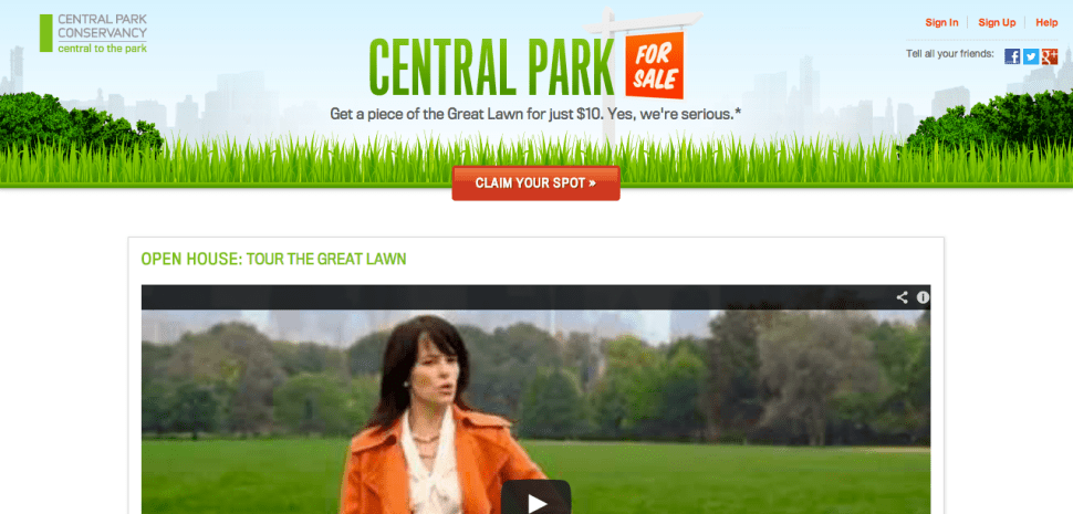 Central Park <em>Isn't</em> For Sale: Site Bugs Stop Conservancy From Selling Virtual Great Lawn
