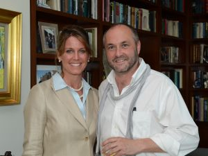 Narrative 4 Executive Director Lisa Consiglio and Colum McCann (Photo credit: James Higgins).