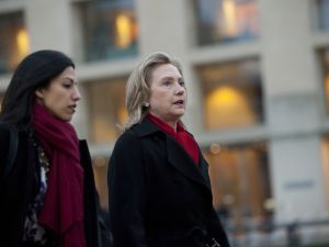 Huma Abedin and Hillary Clinton. (Photo: Saul Loeb/Getty)