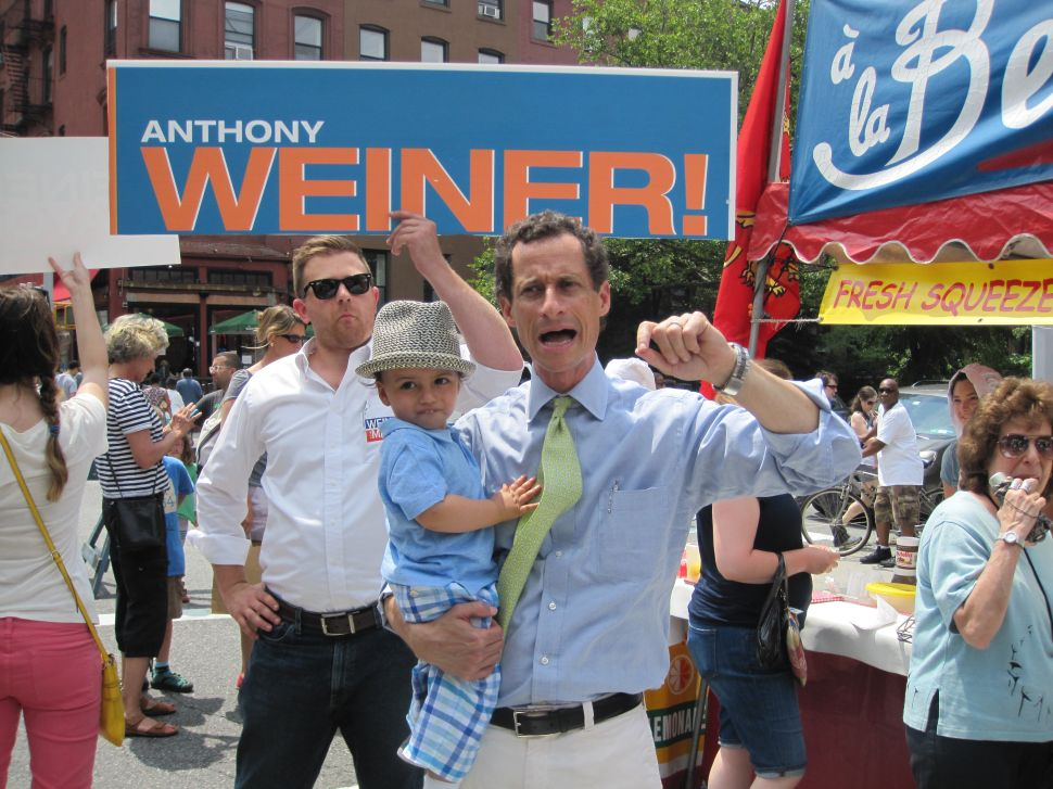 Anthony and Jordan Weiner Charm Park Slopers on Father's Day