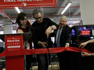 Cutting the Ribbon at MakerBot's new Sunset Park facility