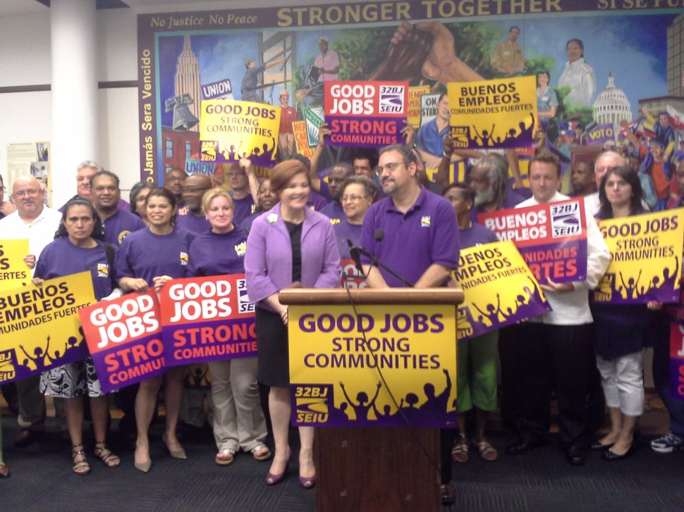 SEIU 32BJ Endorses Christine Quinn for Mayor