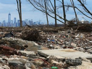 Debris sits on a Staten Island beach damaged by flooding from Hurricane Sandy. (Photo: Mario Tama/Getty Images)