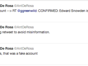 Screenshot of Anthony De Rosa's Twitter Feed.